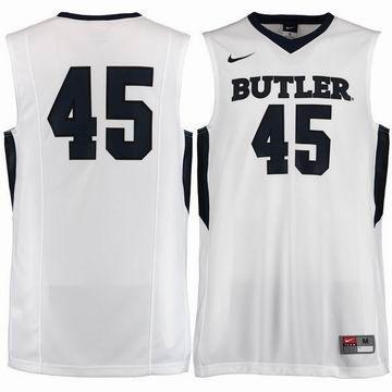#45 Butler Bulldogs Nike Replica Master Jersey - Whitencaa basketball jersey  79