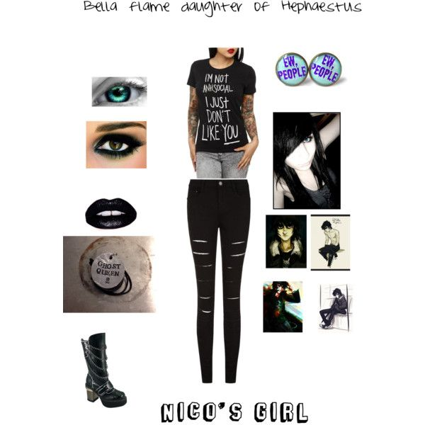 Bella flame by author-of-isabelle-lupin on Polyvore featuring polyvore, fashion, style, HADES and Lime Crime