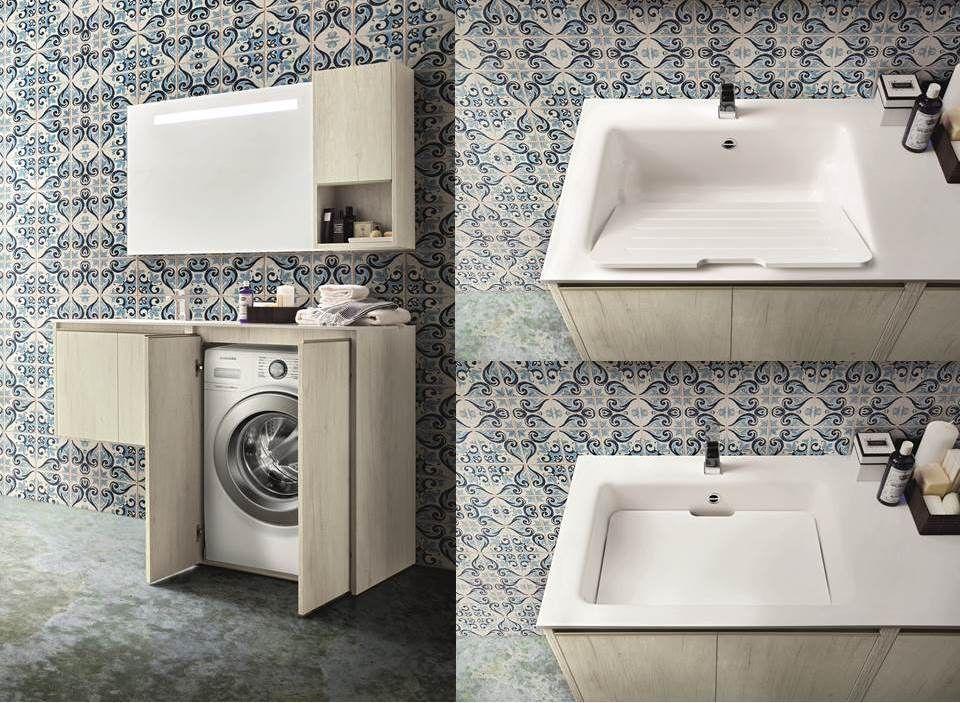 mobile porta lavatrice | bagno | pinterest - Arredo Bagno Lavatrice