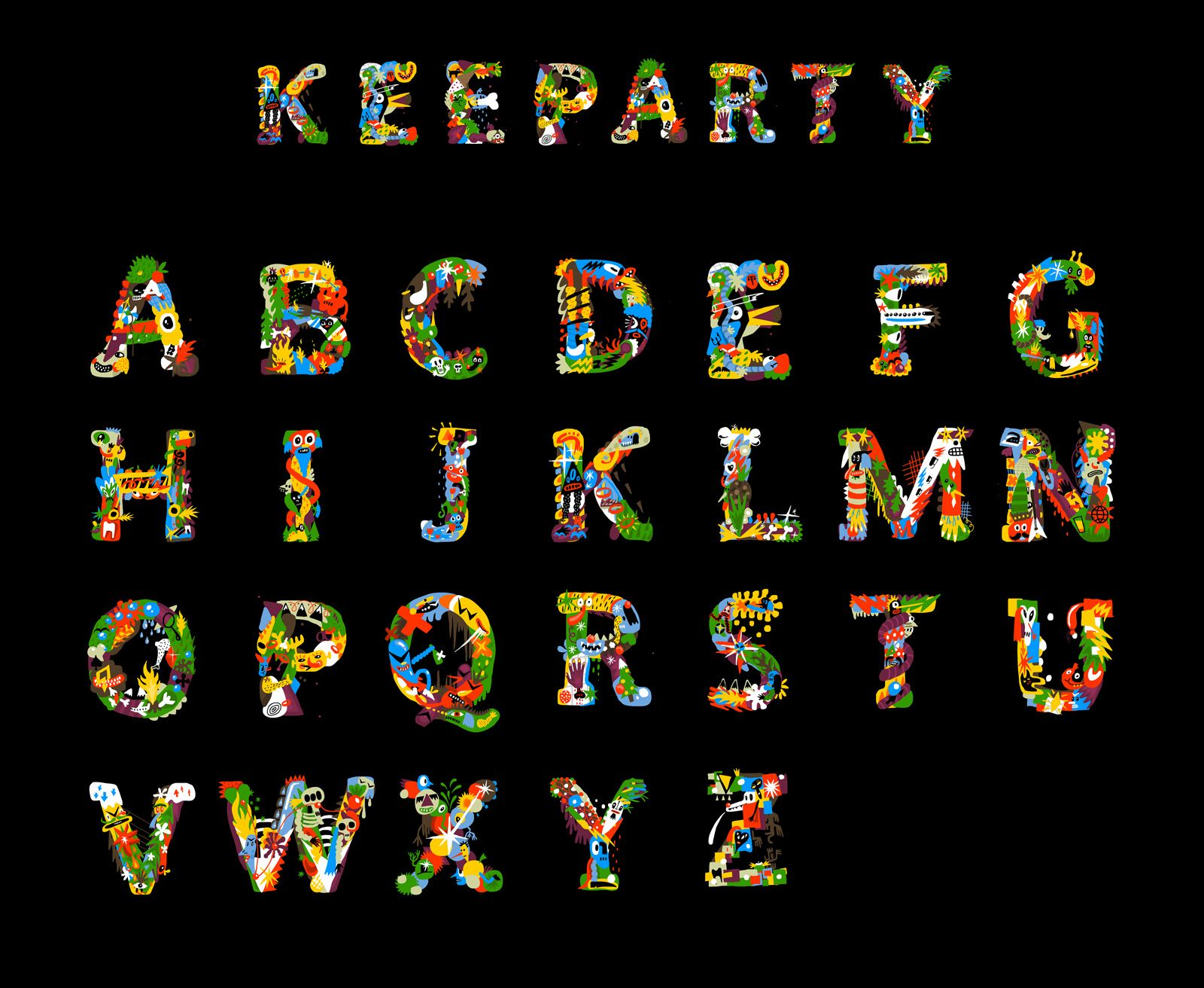 Keeparty Free Font available for download