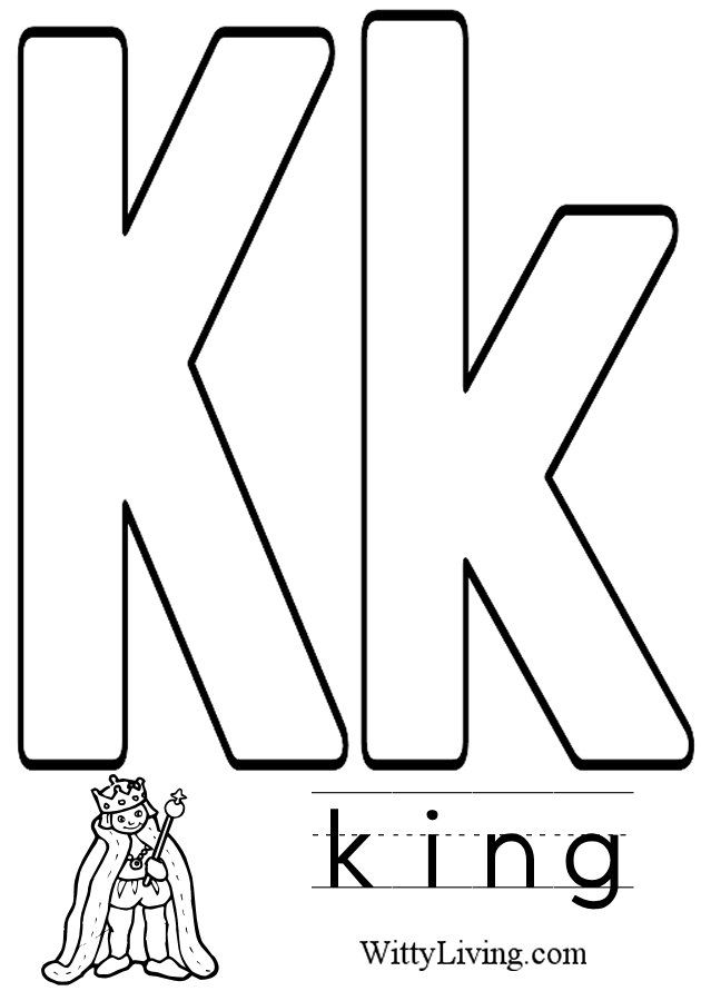 Coloring pages letter k kids crafts for kids to make for The letter k coloring pages