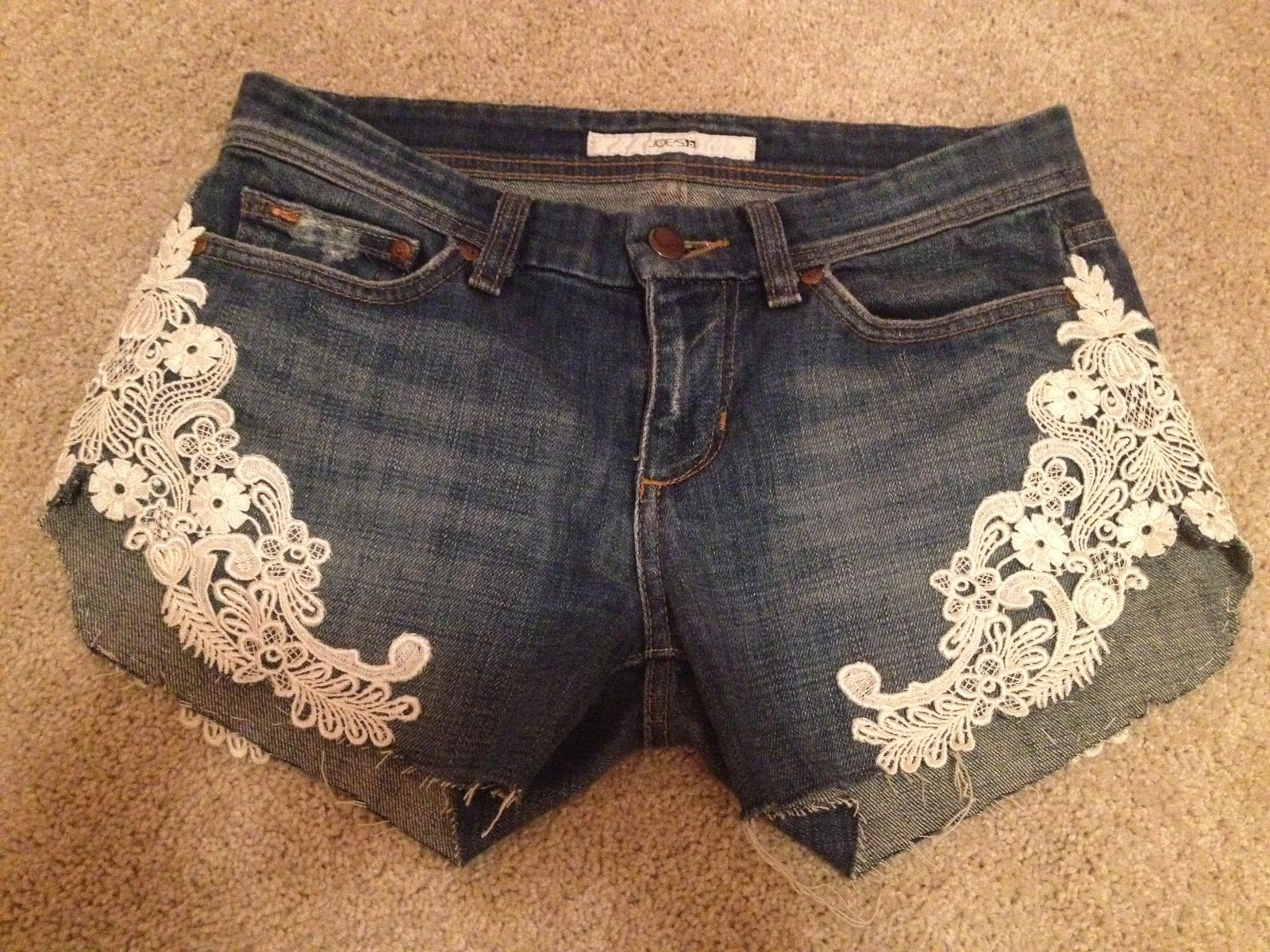 images about DIY laced shorts Lace shorts