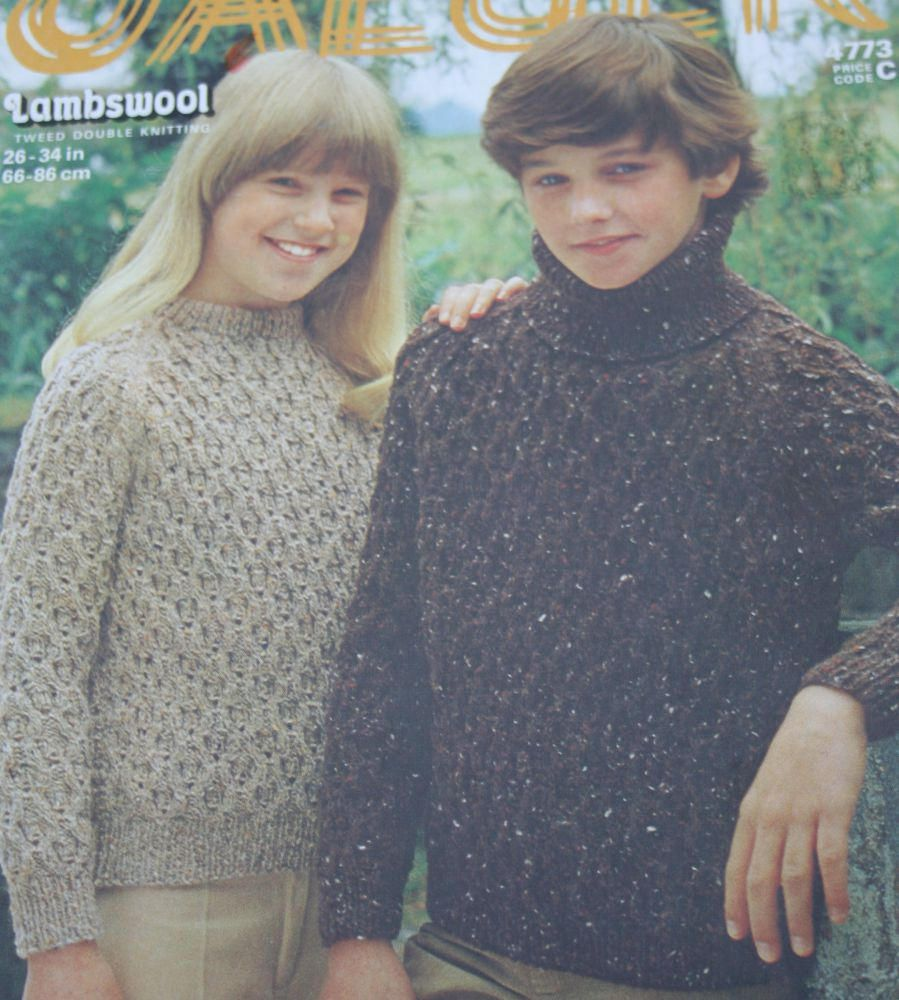 Sweater knitting pattern kids jaeger 4773 sizes 26 34 inches 66 sweater knitting pattern kids jaeger 4773 sizes 26 34 inches 66 86 cm children teen turtleneck dk weight yarn paper original not a pdf bankloansurffo Images