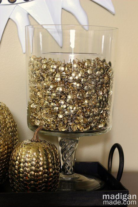 Elegant decor idea thumbtack vase filler details at