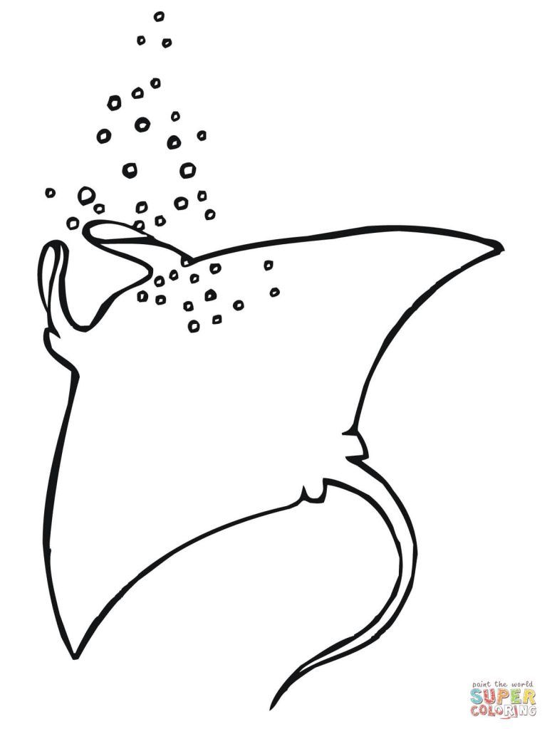 Free Printable Coloring Pages Inside Two Manta Rays Coloring Pages Animal Coloring Pages Coloring Pages Free Printable Coloring Pages
