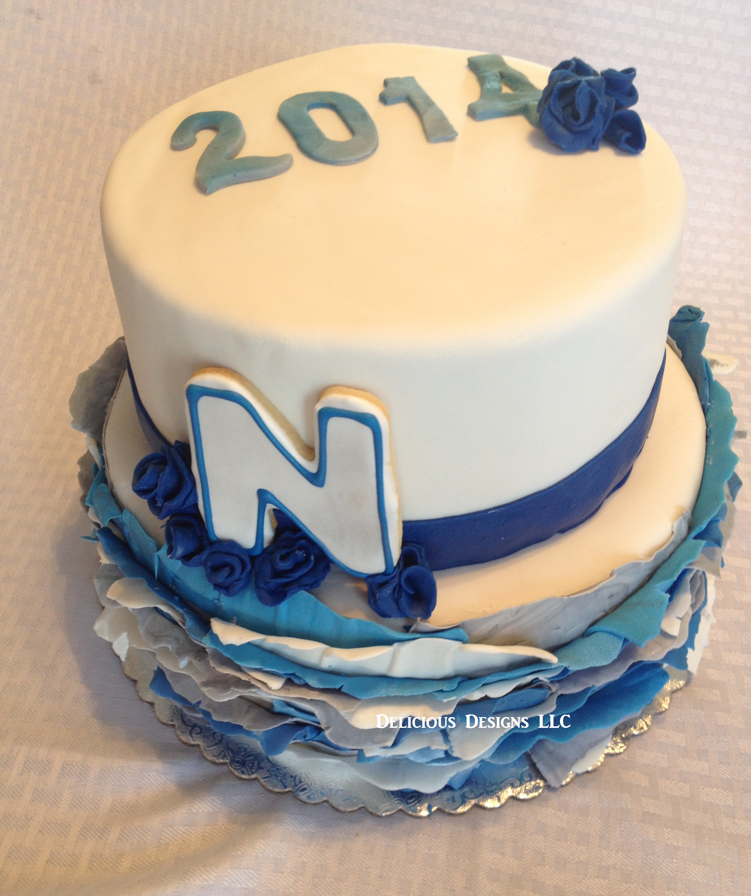 UNR graduation cake!! with Ruffles!! | Delicious designs LLC wedding ...