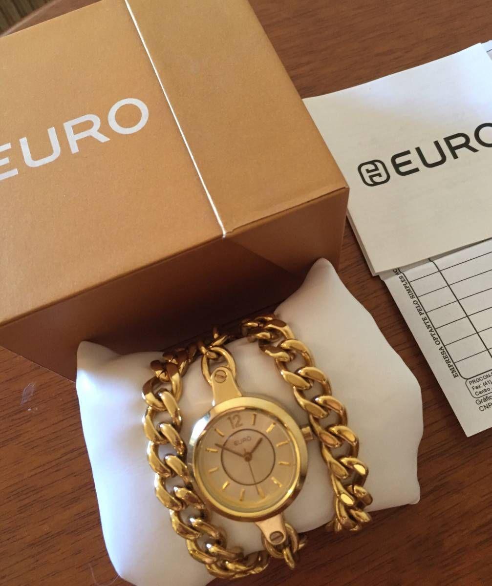 dba455f10a4 relógio euro dourado - relógios euro