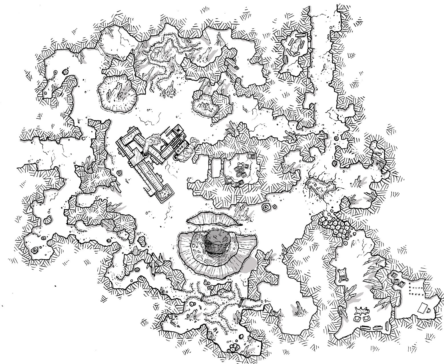 Ashfire Mine Monday Map