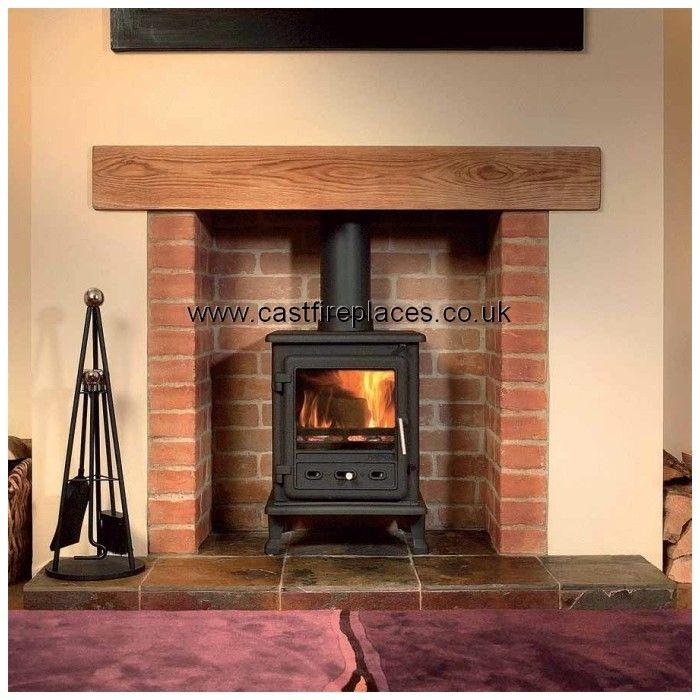 Brick Lined Wood Stove Fireplace Wood Burning Stove Brick Hearth