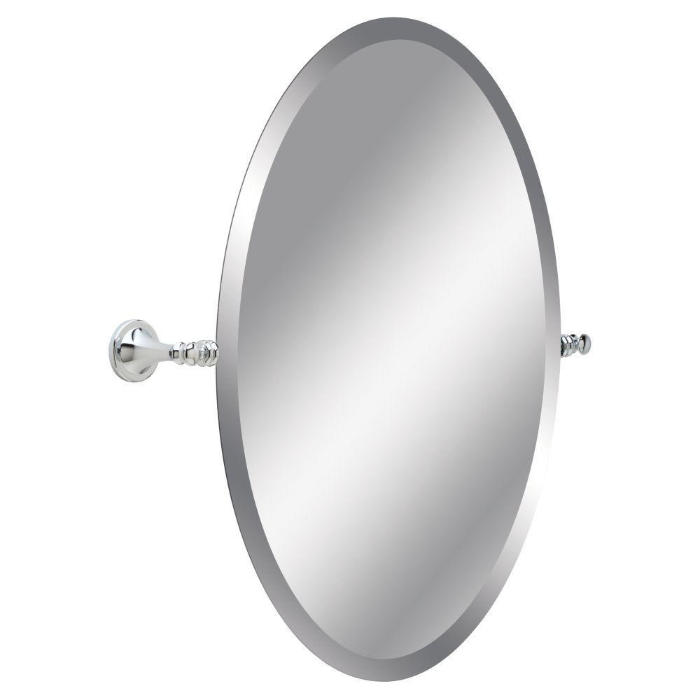 Delta Silverton 26 in. L x 24 in. W Wall Mirror in Chrome   Chrome ...