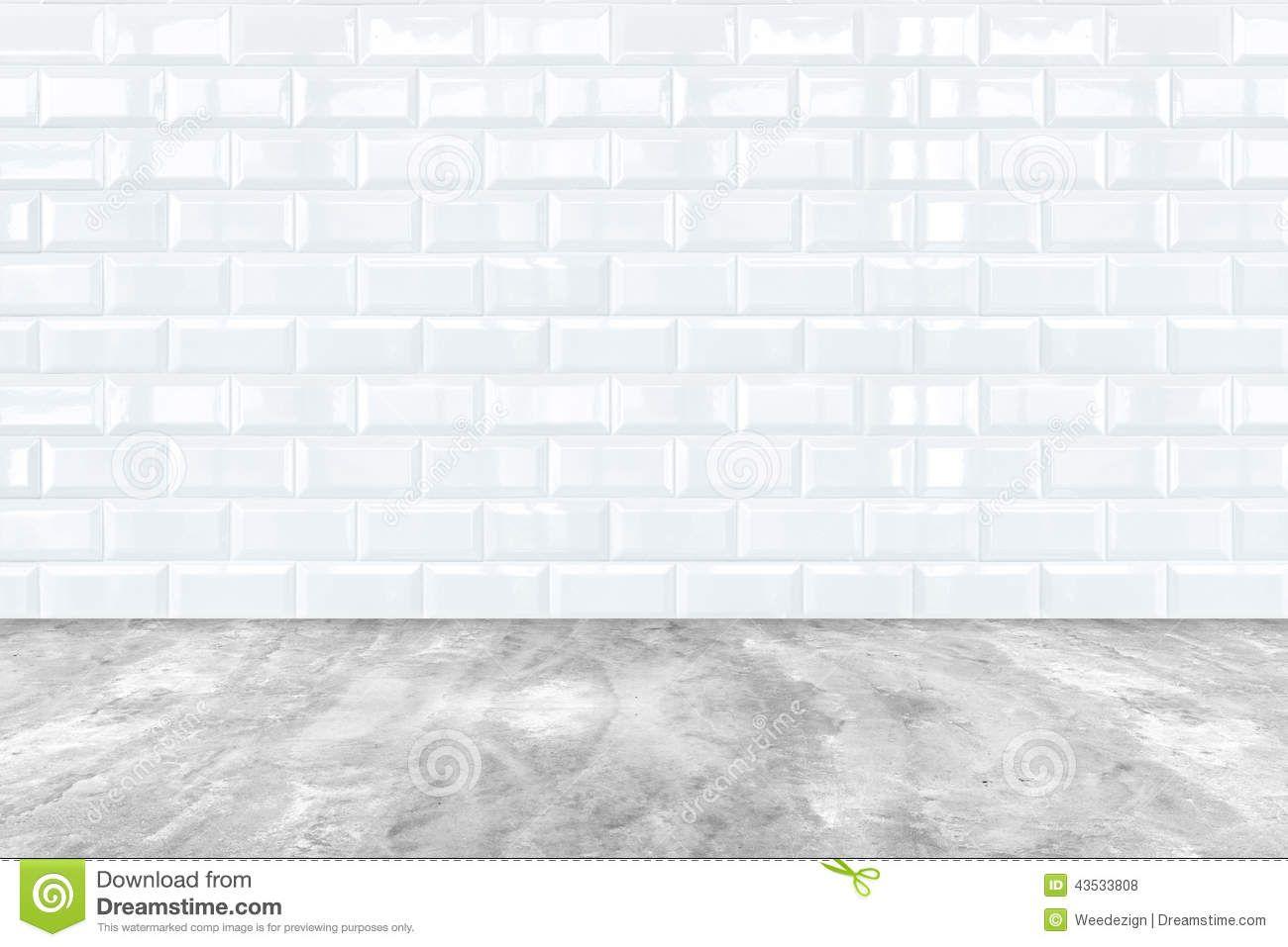 White Porcelain Floor Tile And White Ceramic Brick Tile Wall ...