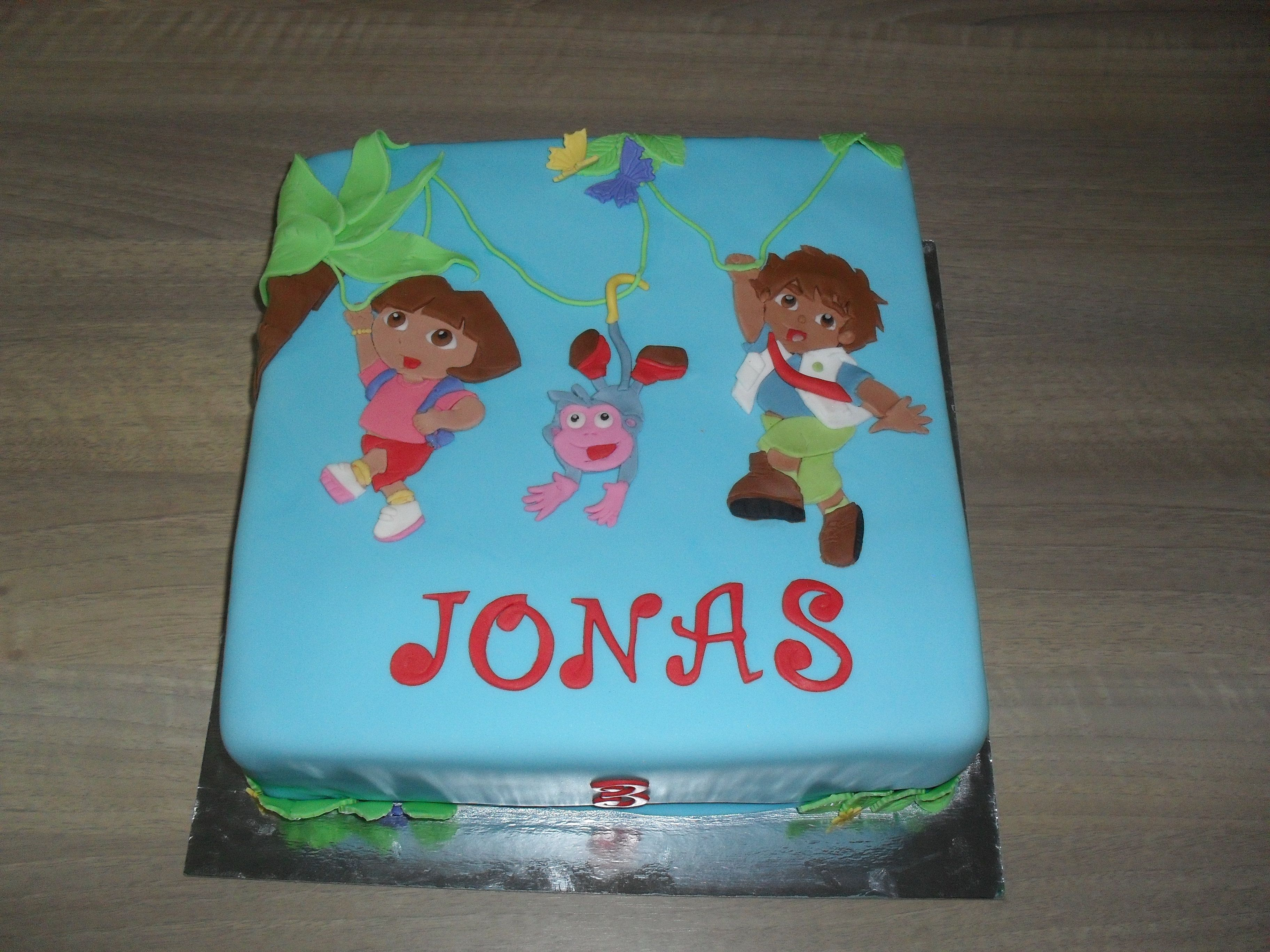 diego taart Dora, Diego en Boots taart/ cake | Smullenvantaart | Pinterest | Cake diego taart