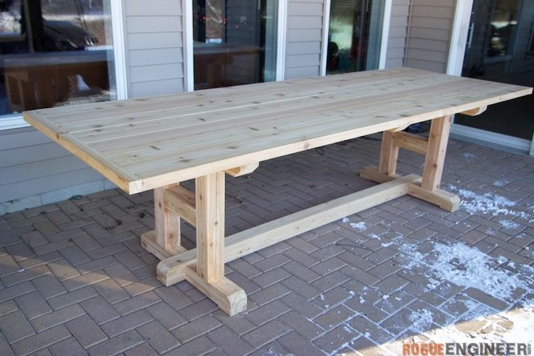 H Leg Dining Table Scrapworklove Getbuilding2015 Diy