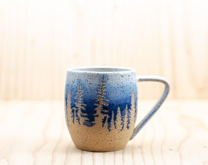Green Pine Tree Ceramic Mug #ceramicmugs