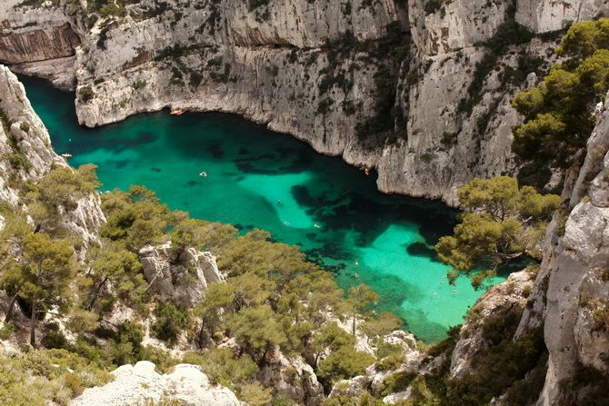 The Cherry Blossom Girl - Calanques near Cassis in Provence- yes you can swim here! and hike!