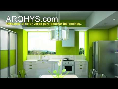 Decorando tu cocina de color verde - YouTube | Pintura de paredes ...