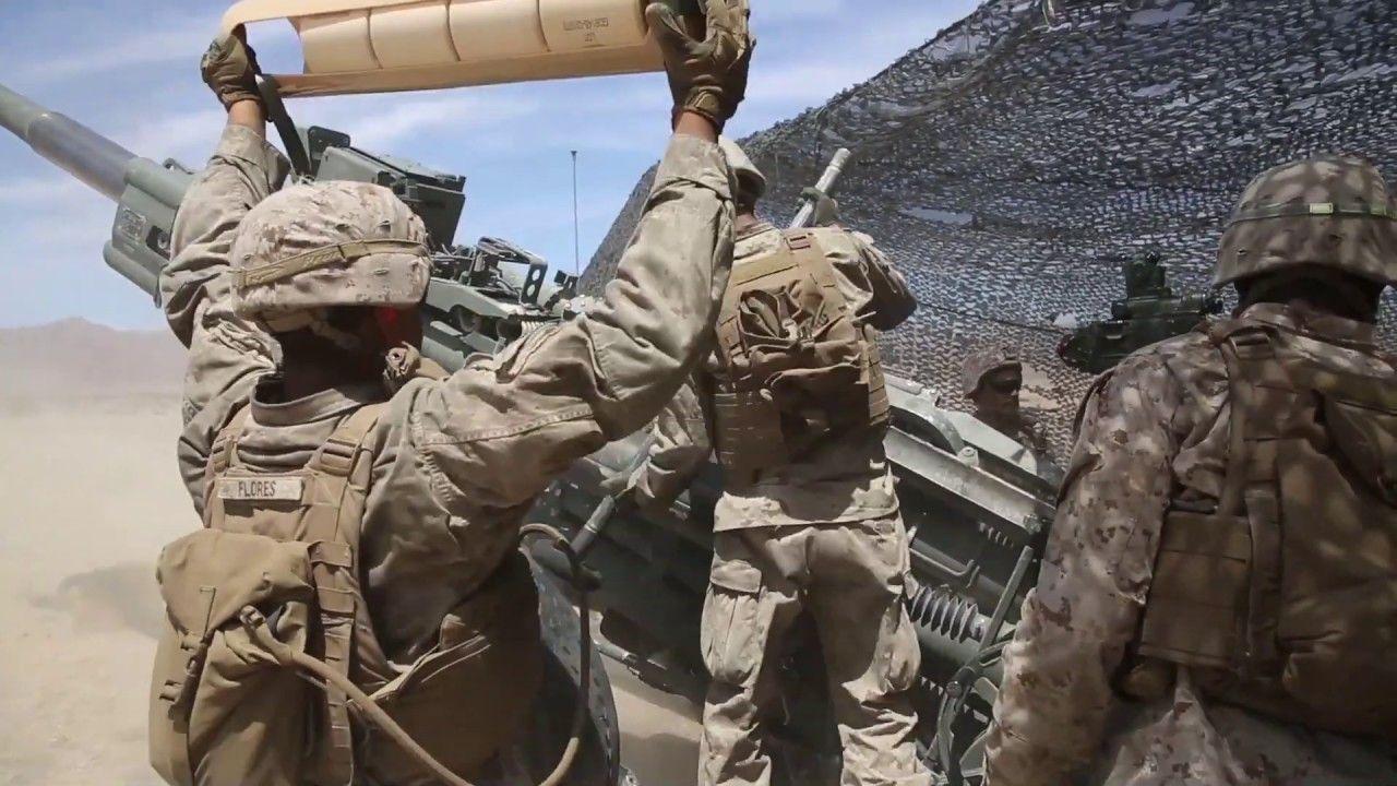 Marines Provide Artillery Support Itx 5 19 Marines Marine Corps Marine