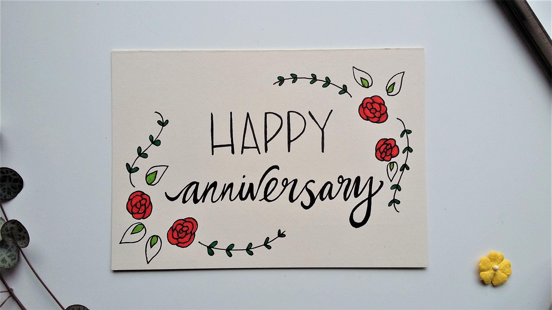 Anniversary Flowers Card Happy Anniversary Cards Anniversary Cards Handmade Aniversary Cards