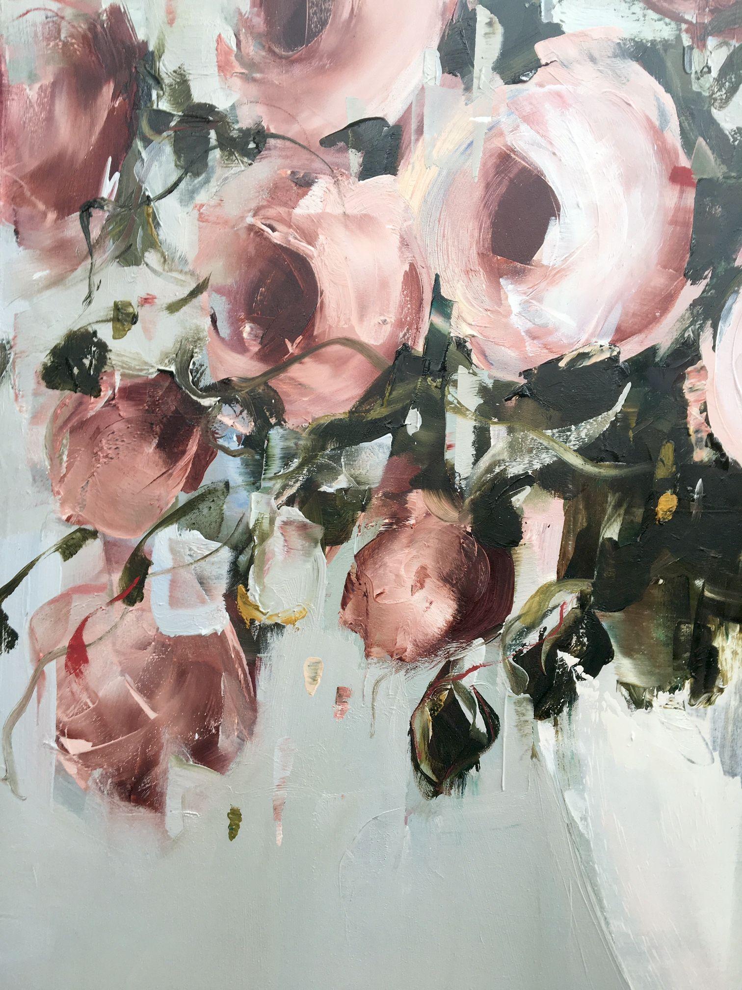detail pink roses nicole pletts craft ideas pinterest peinture fleurs fleur et peinture. Black Bedroom Furniture Sets. Home Design Ideas