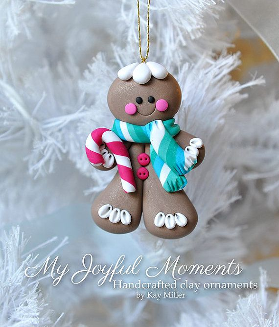 handcrafted polymer clay gingerbread man by. Black Bedroom Furniture Sets. Home Design Ideas