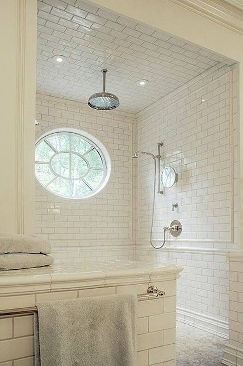 shower-- the tile, the movable shower head, and I kind of have a ...