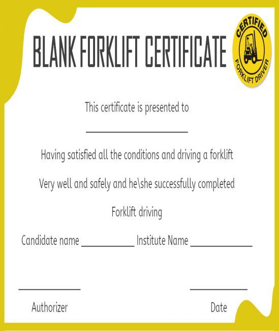 15 Forklift Certification Card Template For Training Intended For Best Forklift Certification Template Amazing In 2021 Certificate Templates Card Template Templates