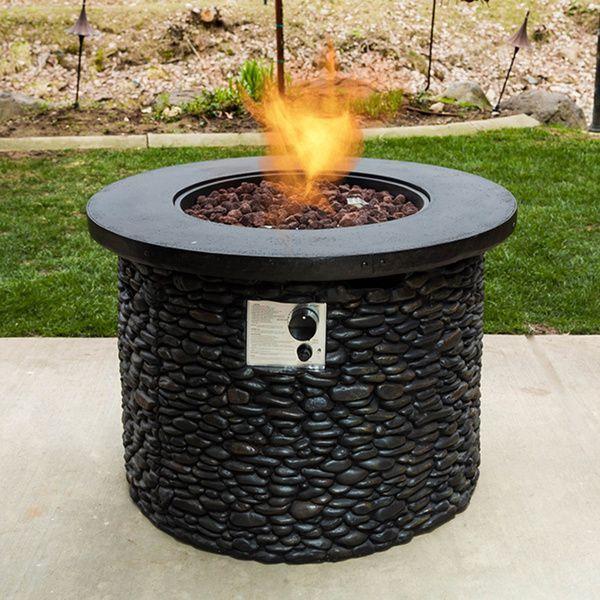 Bombay Stack Stone Propane Fire Pit 18534598 Overstock Com