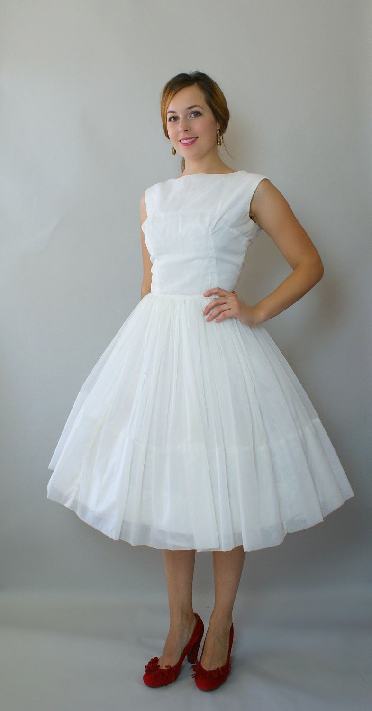 Vintage s formal dress white chiffon turquoise velvet bolero
