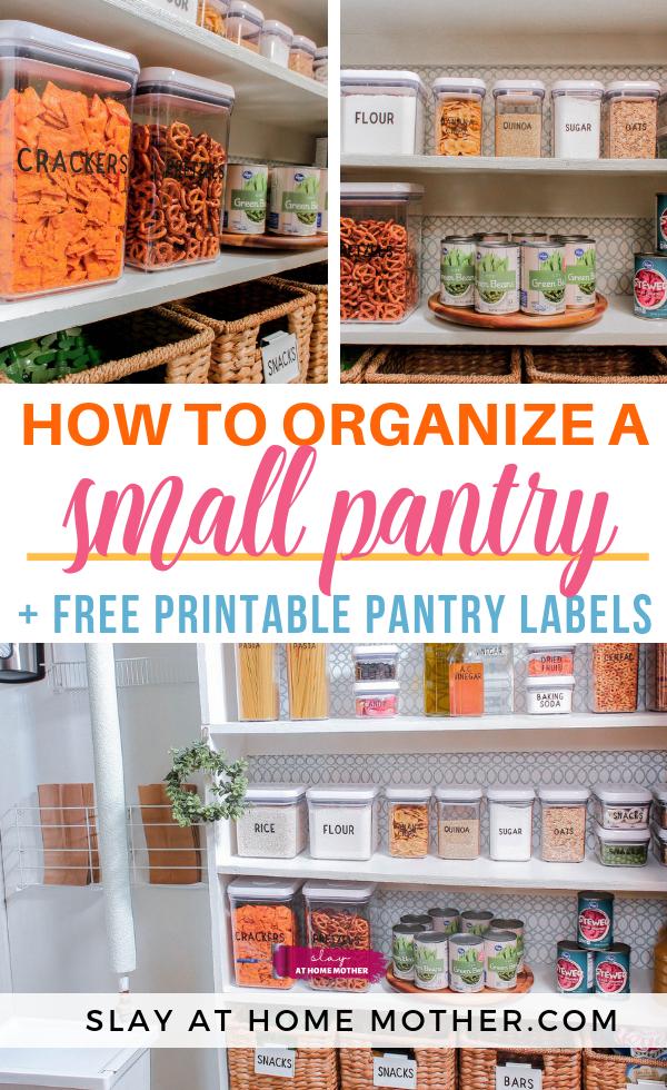 Small Pantry Organization On A Budget Small Pantry Organization Diy Pantry Organization Small Pantry