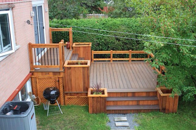 Deck Ideas For Bi Level Homes: Tiers And Planter