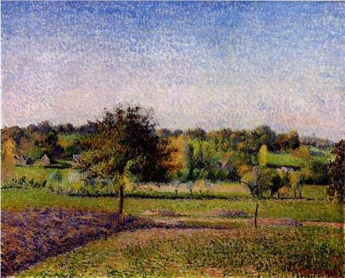 Meadows at Eragny, 1886, Camille Pissarro