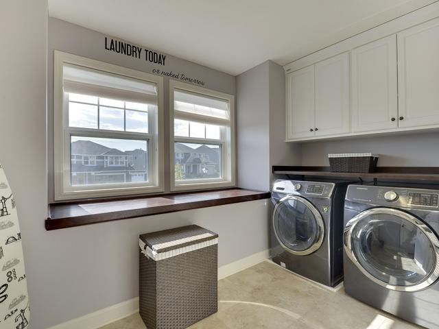 Lago Classic White Sorrento Finished Laundry Room