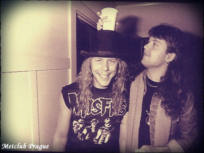 Lars Ulrich & James Hetfield. | Metallica funny, James