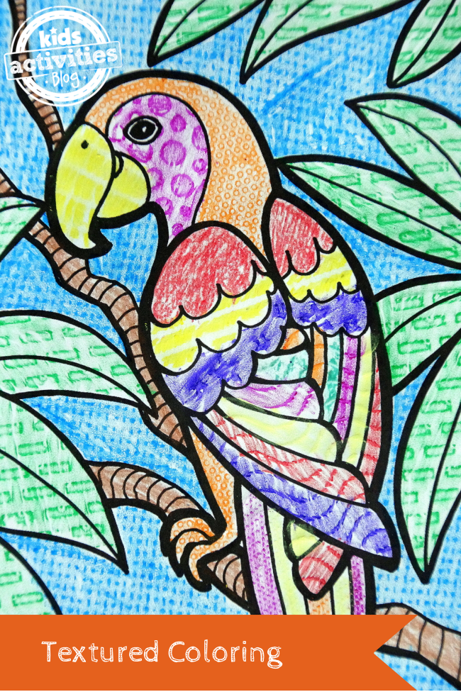 Textured Coloring Art Activities For Kids Cool Art Projects Coloring Pages