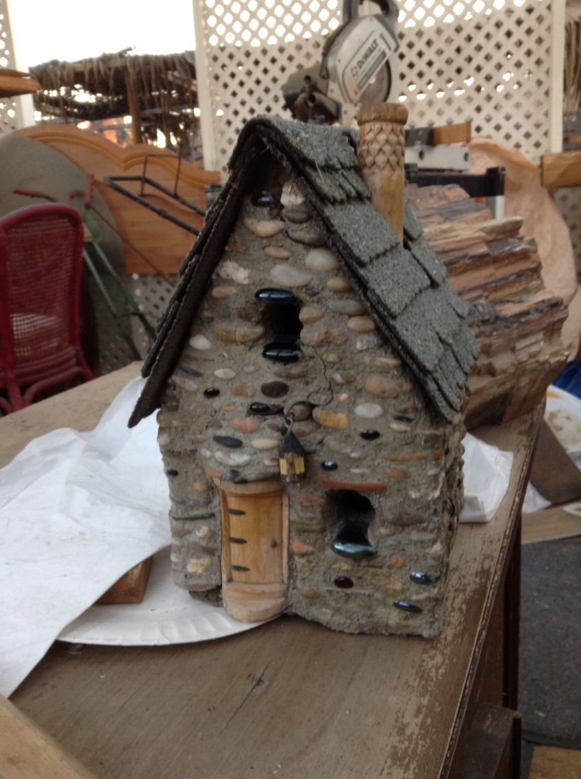 This is a little fairy garden house, it is the first part of a fairy garden in our healing garden.
