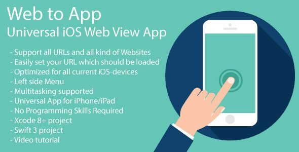 WebToApp   Universal iOS Web View App   iOS 11 and Swift 4   IOS App