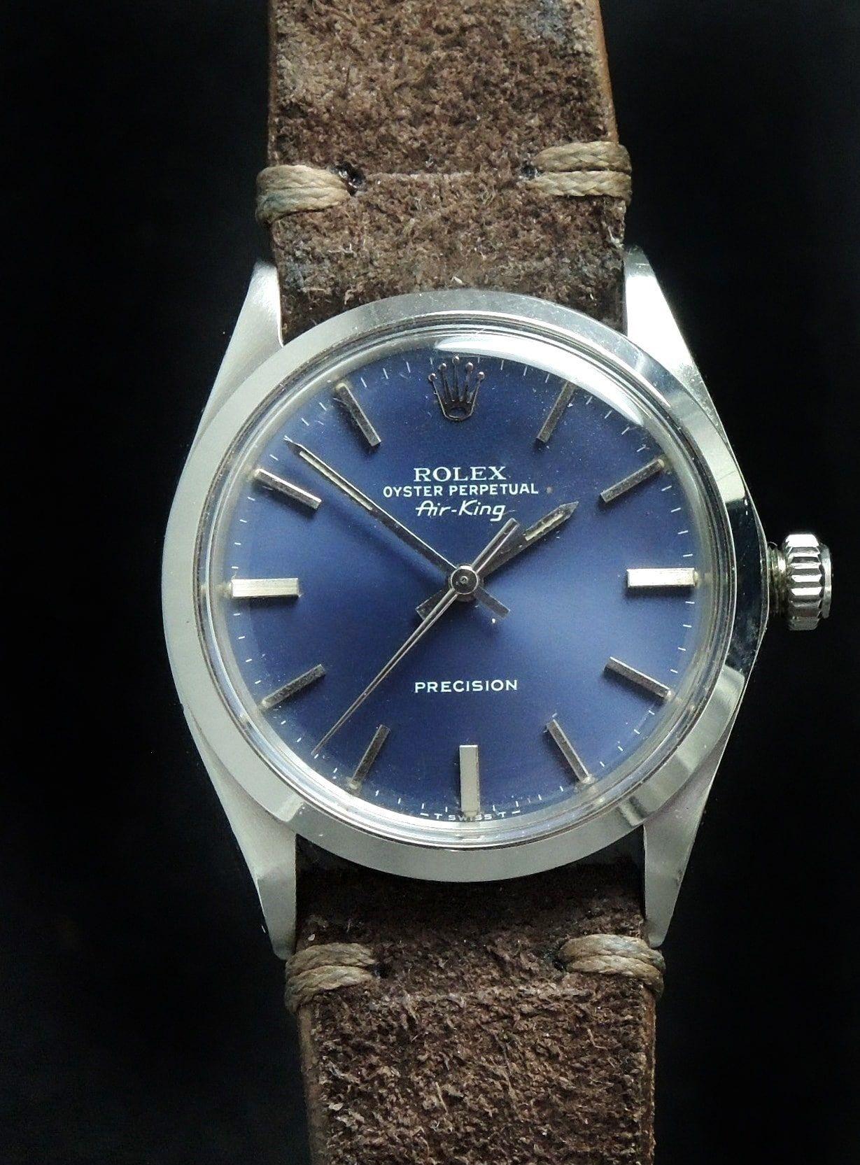 Bildresultat för rolex air king precision blue dial