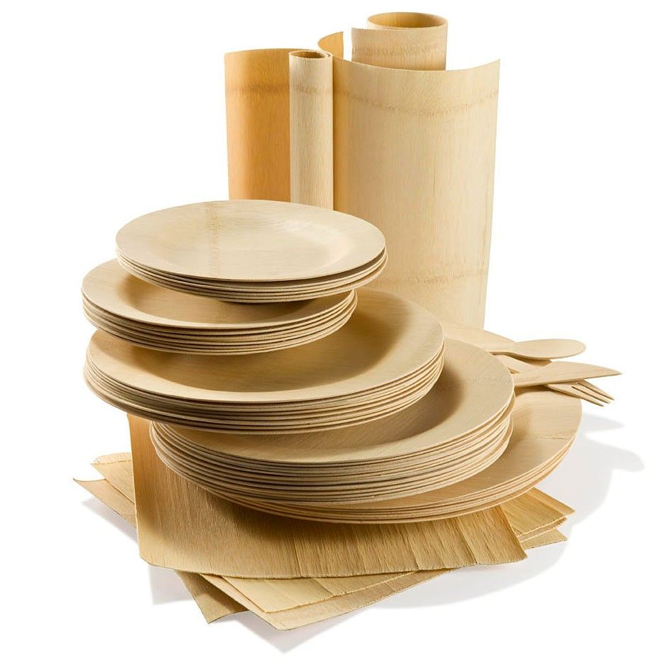 All Occasion Veneerware Bamboo Plates - Set of 8  sc 1 st  Pinterest & All Occasion Veneerware Bamboo Plates - Set of 8 | Thisnthat: Just ...