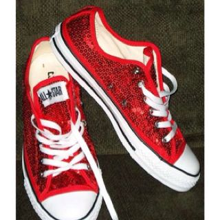 Red Sparkle Converse....these WILL be on my feet at some point for my  wedding! c5733658a7