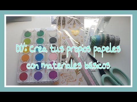 DIY: Crea tus papeles decorados - YouTube