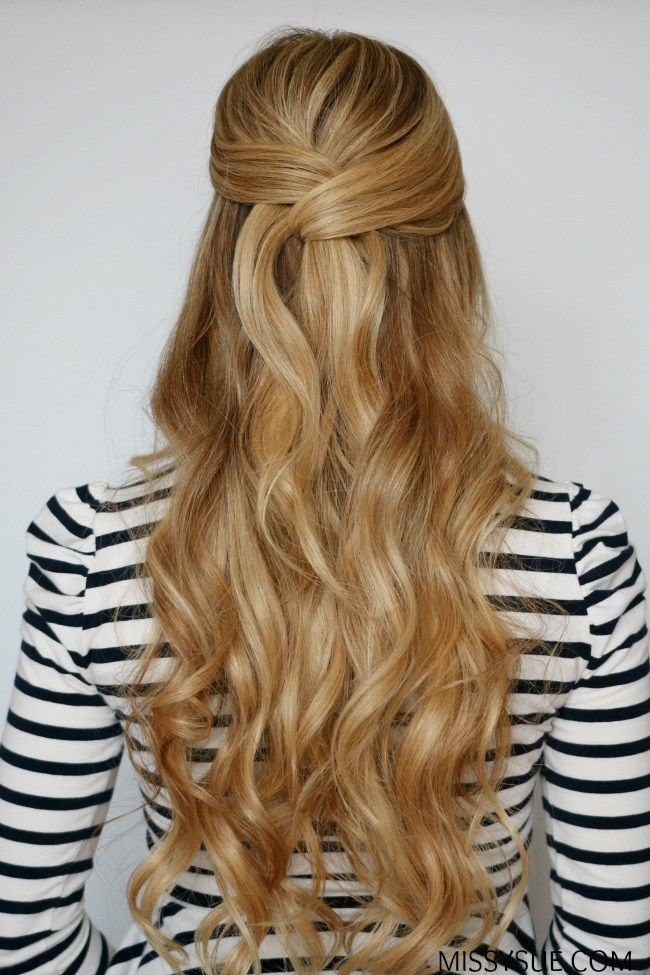 Easy Wrapped Half Up Style Hair Styles Braided
