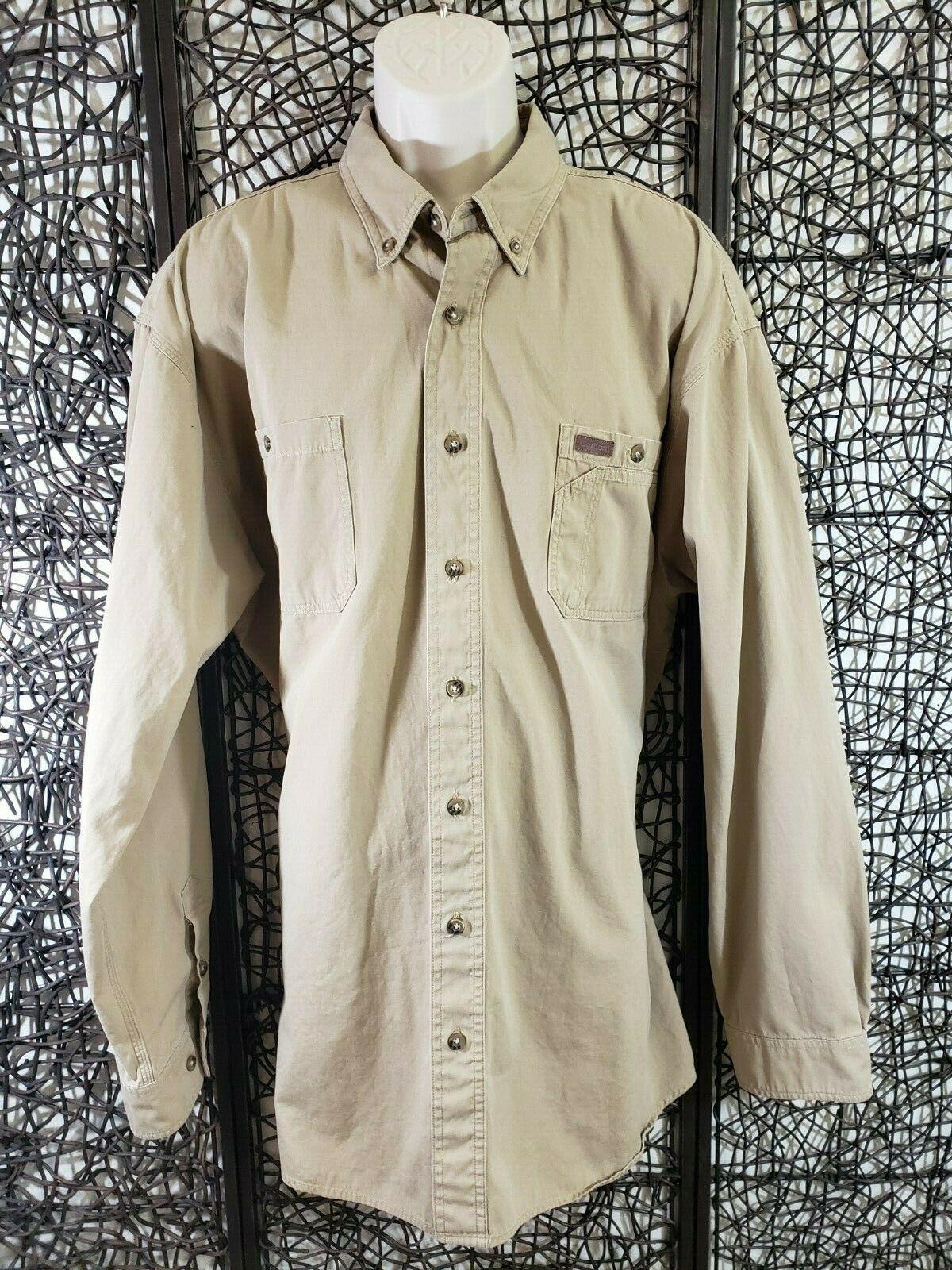 Details About Carhartt Mens Long Sleeve Button Oxford Shirt Size 2xlt Beige 100 Cotton In 2020 Carhartt Shirts Carhartt T Shirt Oxford Shirt