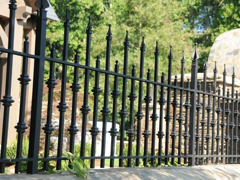 Design And Ideas Wrought Iron Fence In 2020 Fence Design Rod Iron Fences Backyard Fences