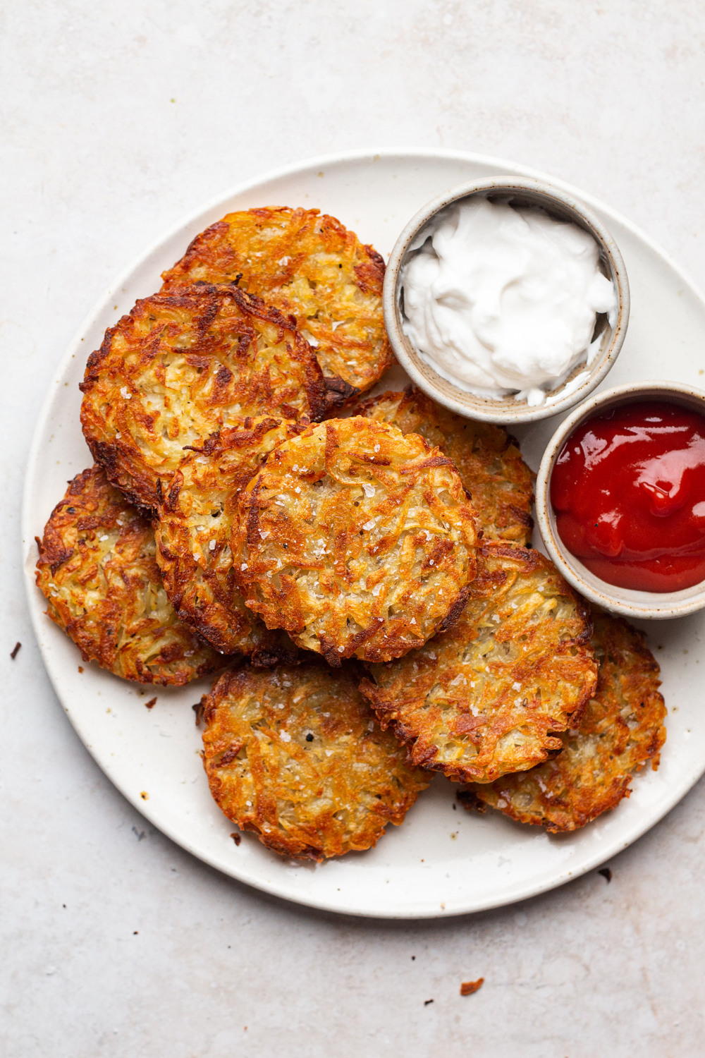 Vegan hash browns require 3 staple ingredients and they are baked rather than fried, which makes them way healthier yet just as crispy on the outside and soft on the inside. Naturally gluten-free.