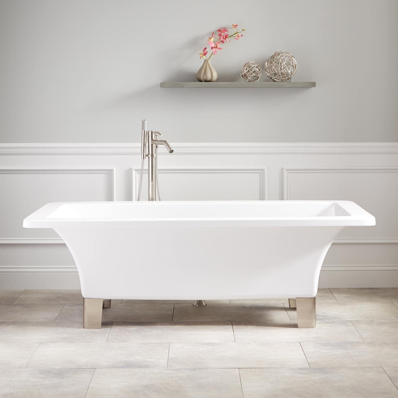 Natalie Acrylic Footed Tub   Tubs, House goals and Bath