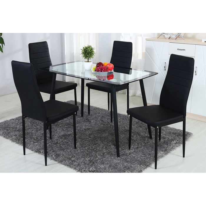 5-Piece Juliet Dining Set & Reviews | Joss & Main