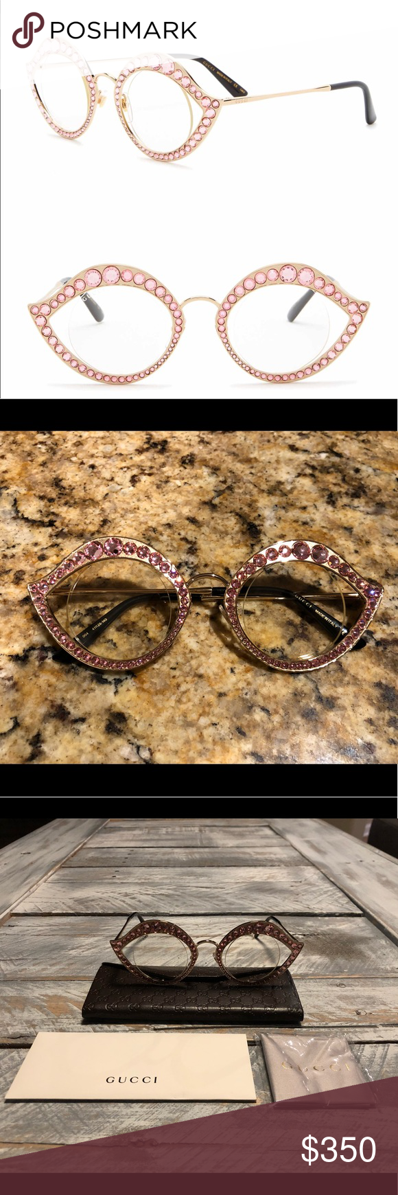 782591c4837 🌸🌸Gucci 41MM Cat Eye Crystal Accented🌸🌸 - Style  Cat eye with ...