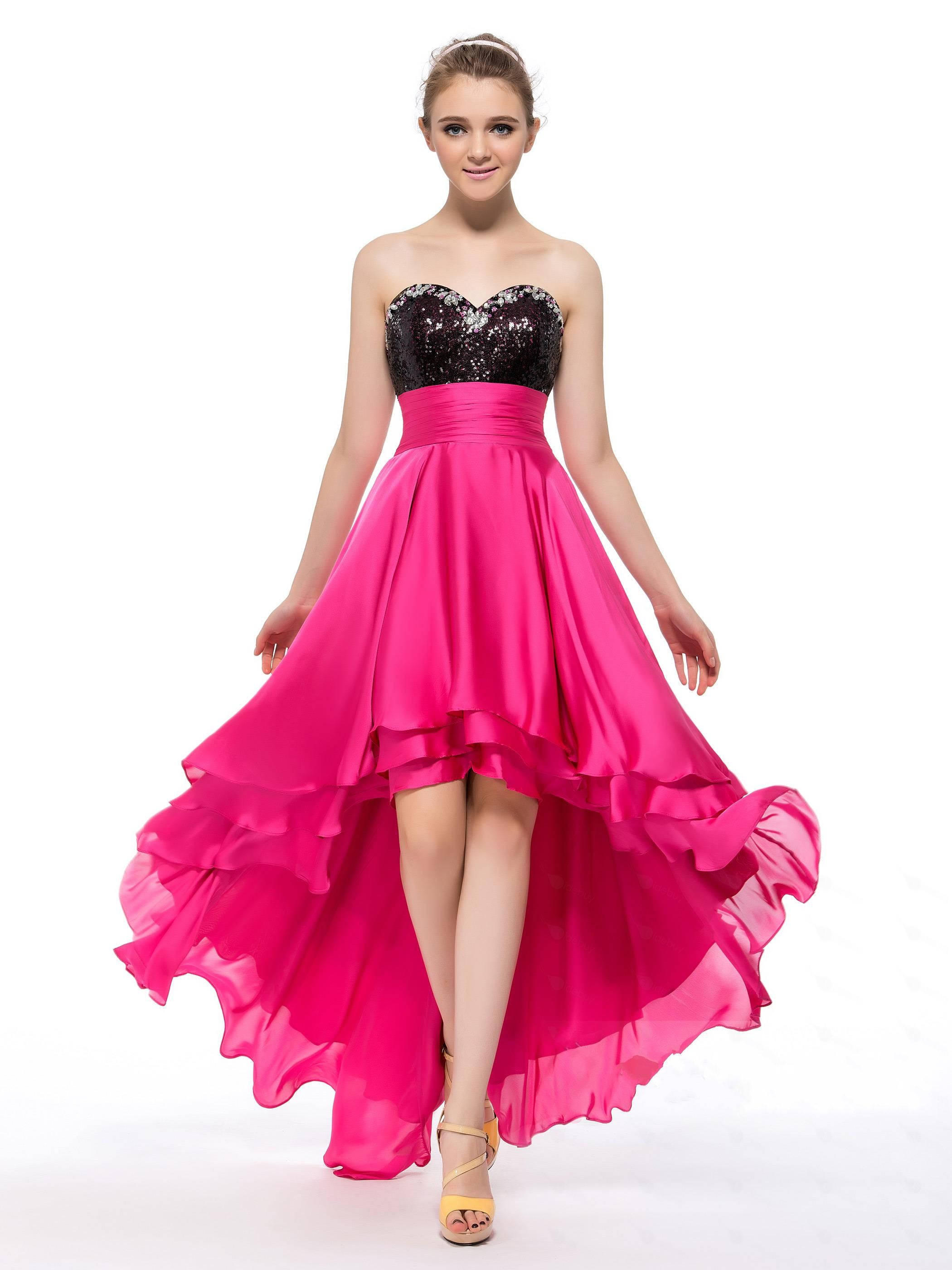 2b607f0eb3652 Black And Hot Pink Evening Dresses
