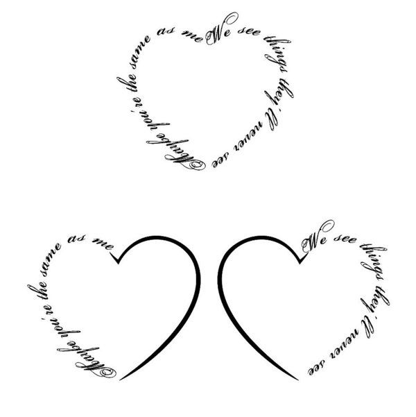 heart tattoo designs with words | My image Sense