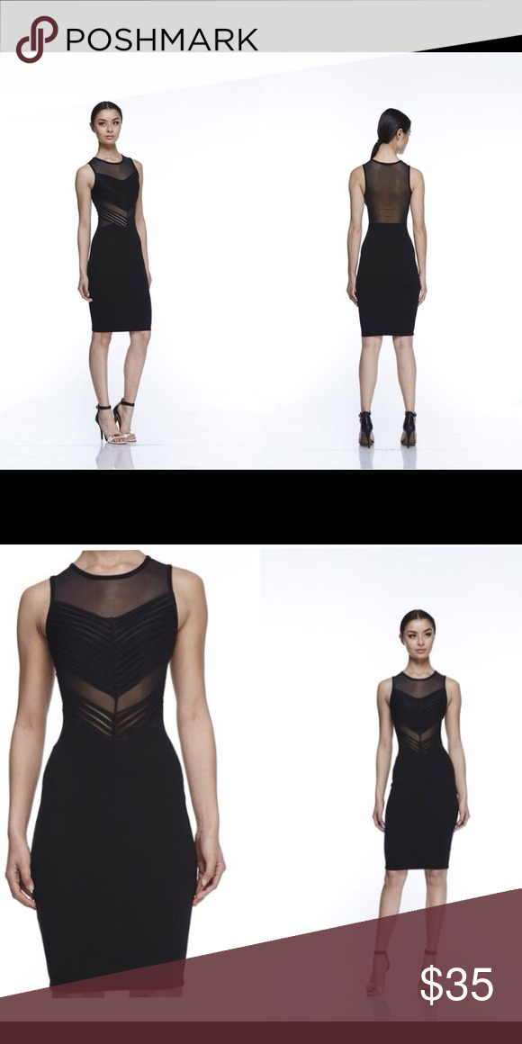 3bacc37343 Black Mesh Bodycon Sleeveless Dress  Sleeveless mesh body-con dress. Mesh  and black